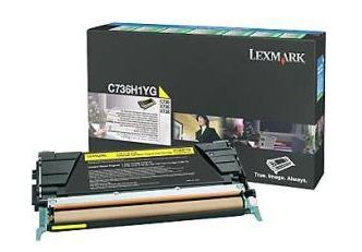 Lexmark C736, X736, X738 Yellow High Yield Return Program Toner Cartridge, 10K