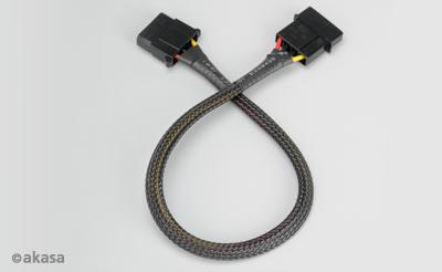 Akasa AK-CBPW02-30 4pin Molex PSU predlžovací kábel 30cm