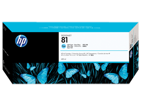 HP No. 81 Cyan Ink Cartridge (680 ml) for HP DSJ 5000
