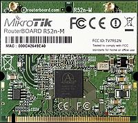MIKROTIK RouterBOARD R52nM Dual-band miniPCI card 802.11a/b/g/n (MMCX)
