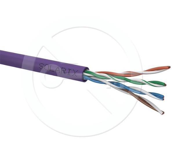 CNS kabel UTP, Cat5E, drát, LSOH, Eca, box 305m - šedá