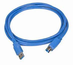 Kabel USB A-B 3.0 1,8m USB3-AMBM6 PREMIUM HQ BLUE GEMBIRD USB3-AMBM-6