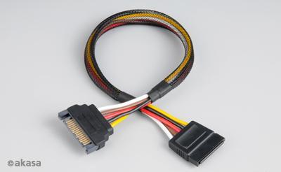 Akasa AK-CBPW04-30 SATA Power Cable Extension 30cm