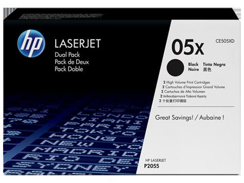 HP LaserJet High-Capacity Black Print Cartridge (6,500 pages) 2xCE505X