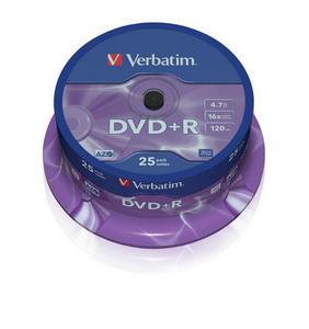 Verbatim - DVD+R 4,7GB 16x 25ks v cake obale