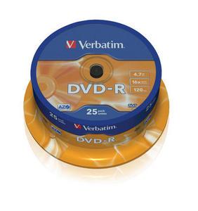 Verbatim - DVD-R 4,7GB 16x 25ks v cake obale