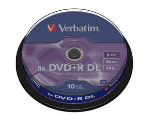 Verbatim - DVD+R 8,5GB 8x Dual Layer 10ks v cake obale