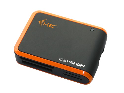 i-Tec USB 2.0 All-in One reader - Black/Orange