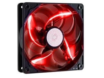 ventilátor Coolermaster SickleFlow 120x120, long life sleave, 19dBA, červená LED