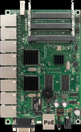 MIKROTIK RouterBOARD 493G + L5 (680MHz; 256MB RAM, 9xGigaLAN, 3xMiniPCI)