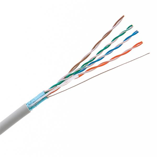 CNS kabel FTP, Cat5E, lanko, LSOH, box 305m - šedá