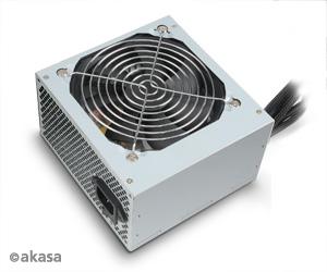 Akasa 350W ES zdroj, 12cm Fan, čierny, ATX v2.3