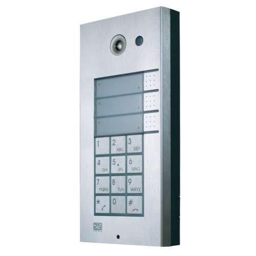 2N Helios IP Vario, 3x1 tlačítko + klávesnice