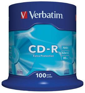 Verbatim - CD-R 700MB 52x 100ks v cake obale