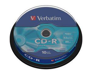 Verbatim - CD-R 700MB 52x 10ks v cake obale