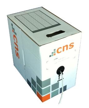 CNS kabel UTP, Cat5E, drát, LSOH, Eca, box 100m - šedá