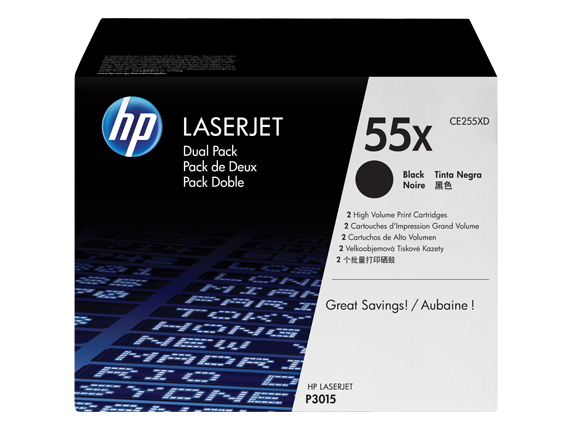 HP LaserJet P3015 Dual Pack Black Crtg