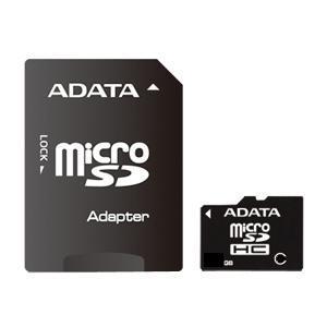 8 GB . microSDHC karta ADATA class 4 + adaptér