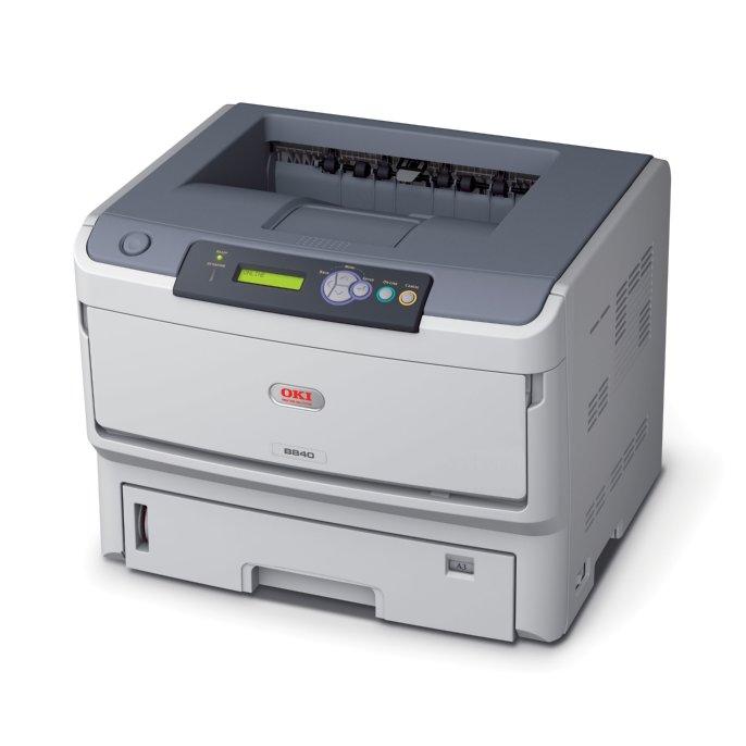 OKI B840dn mono tlaciaren A3, 40str/min A4, USB + DUPLEX + NET