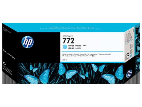 HP 772 300-ml Light-Cyan Ink Cartridge