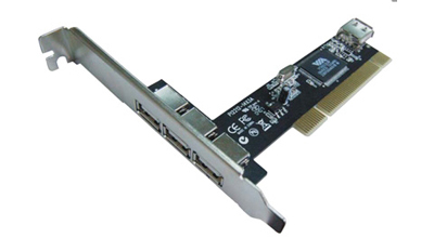 Adapter USB 2.0 do PCI slotu. 3+1x USB ( 3 ext.)