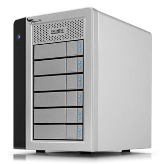 Promise Pegasus R6 6 x1TB SATA HDD 2 x Thunderbolt RAID 0, 1, 5, 10