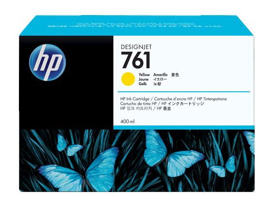HP náplň č. 761, žltá, 400 ml