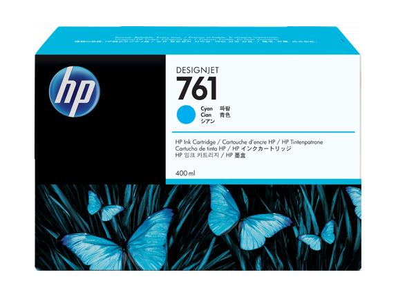 HP náplň č. 761, azúrová, 400 ml