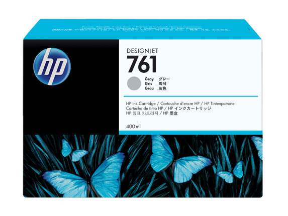 HP náplň č. 761, sivá, 400 ml