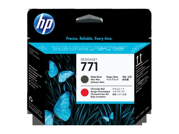 HP tlačová hlava č. 771, matná čierna / chromatická červená