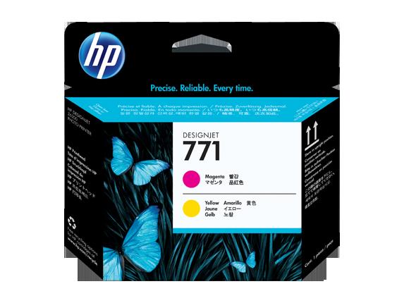 HP tlačová hlava č. 771, purpurová / žltá