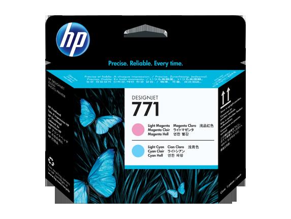 HP tlačová hlava č. 771, svetlopurpurová / svetloazúrová