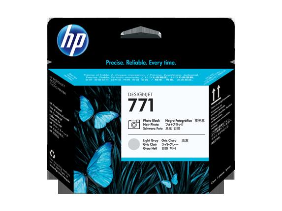 HP tlačová hlava č. 771, fotografická čierna / svetlosivá