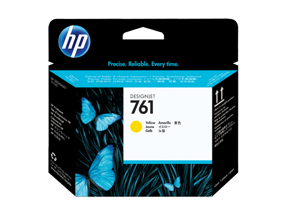 HP tlačová hlava č. 761, žltá