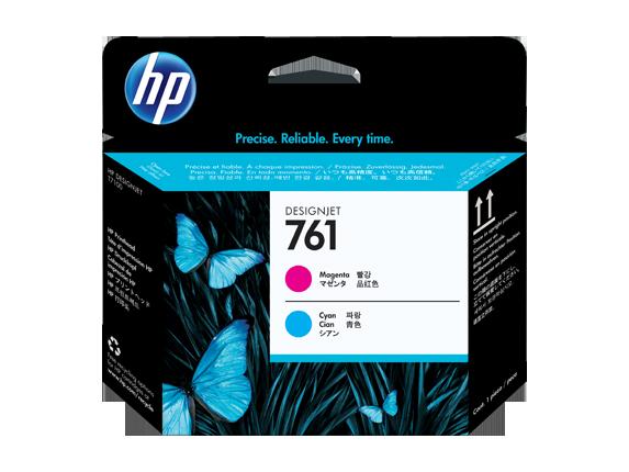 HP tlačová hlava č. 761, purpurová / azúrová
