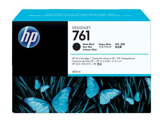HP náplň č. 761, matná čierna, 400 ml