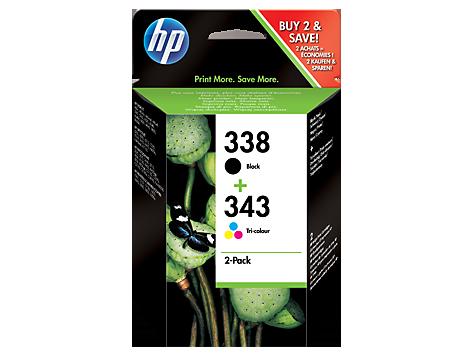 HP náplne č.338/343 kombinované balenie