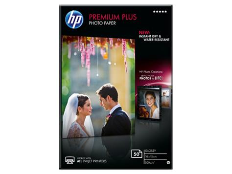 HP Premium Plus Glossy Photo Paper-50 sht/10 x 15 cm