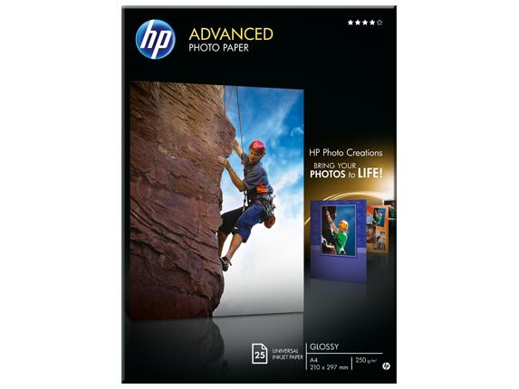 HP Zdokonalený lesklý fotografický papier HP Advanced Glossy Photo Paper – 25 listov/A4/210 x 297 mm