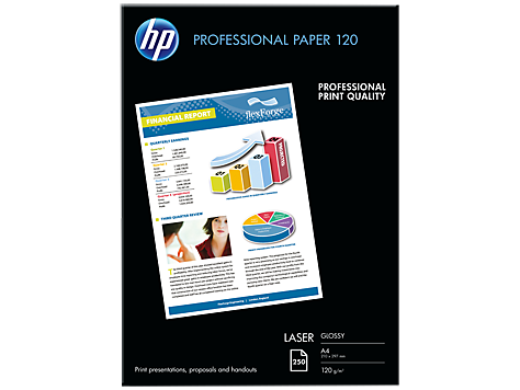 HP Papier HP Professional Glossy Laser Paper 120 g/m2/A4/210 x 297 mm/250 listov