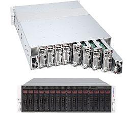 Supermicro Server SYS-5037MC-H8TRF, 3U, 8 x Micro Cloud Nodes, Intel Chipset, SATA, IPMI - Black