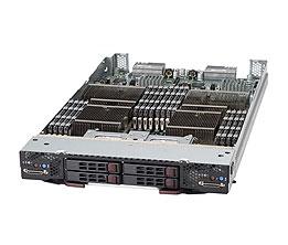Supermicro SuperBlade 10Module SBA-7142G-T4, 4 x Opteron61xx 4x2,5'HDD
