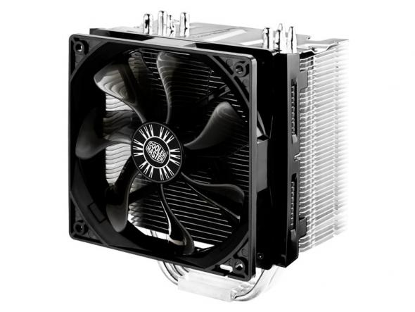 CoolerMaster chladič CPU Hyper 412S, silent 900-1300RPM, 2011-3/2011/1366/1156/1155/775/FM1/AM3+/AM3/AM2+/AM2