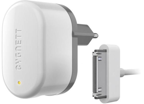 Cygnett, Groove Power, 1A nabíjačka do steny s 30pin/USB káblom pre staršie iPhone, iPad, iPod, EU , biela