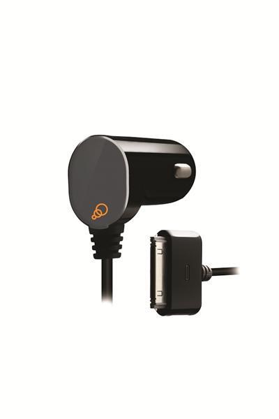 Cygnett, GroovePower Auto II, 2.1A auto-nabíjačka pre iPad 2/3/4, iPhone 3/4, iPod, fix kábel, čierna