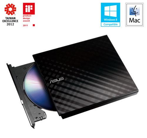 ASUS DVD-RW External Slim SDRW-08D2S-U, Retail, čierna