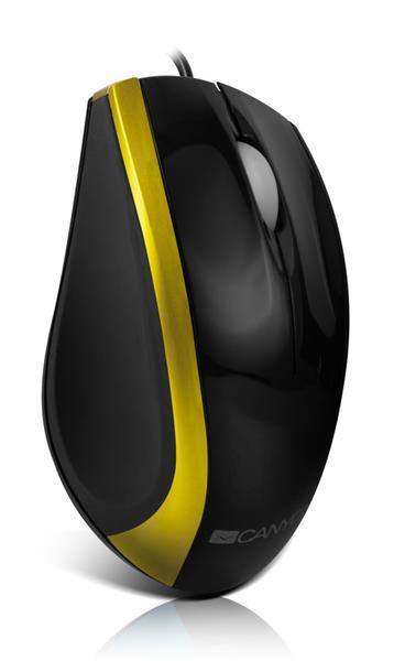 Canyon CNR-MSO01NG, optická myš, USB, čierno-zeleno-zlatá, 800 dpi