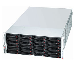 Supermicro® Chassis CSE-847E16-RJBOD1, 4U, Single SAS-II Expander, JBOD, Redundant PSU 1400W, Black