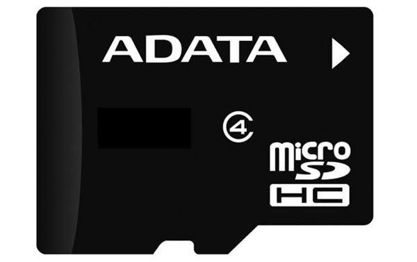 16 GB . microSDHC karta ADATA class 4