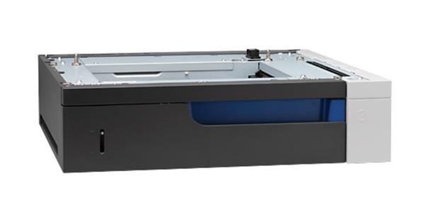 HP 1x500-Sheet Paper Feeder provides 500 sheet input capacity.